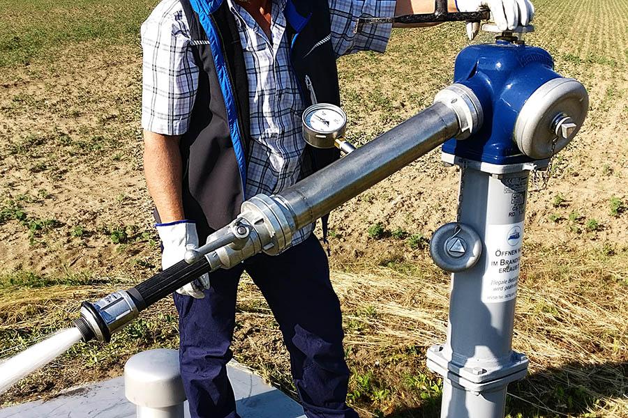 Hydrant prüfen